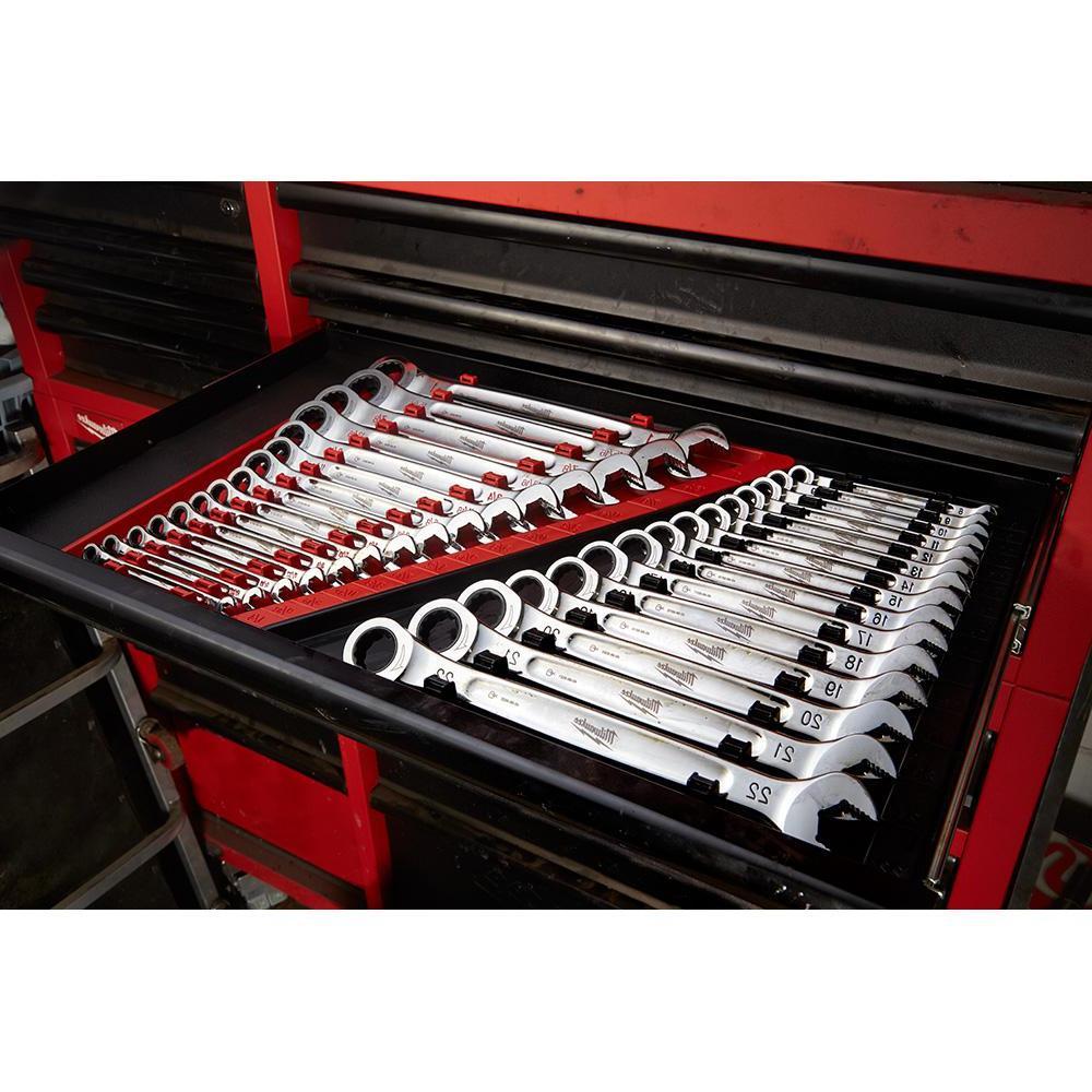 Metric Combination Ratcheting Wrench Mechanics Tool Set (15-Piece)